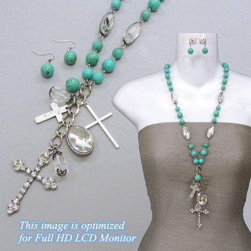 Necklaces &lt; Cross & Message &lt; Neclace < Wholesale Necklace Set