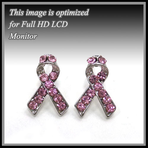 Pink Ribbon &lt; Earrings < Fashion Earring