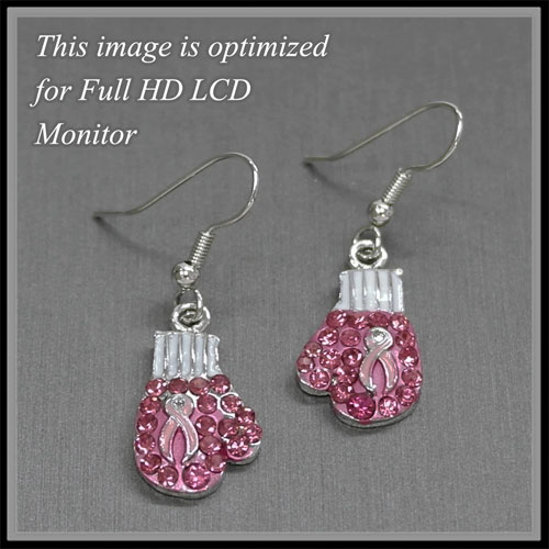 Pink Ribbon &lt; Earrings < Wholesale Earring