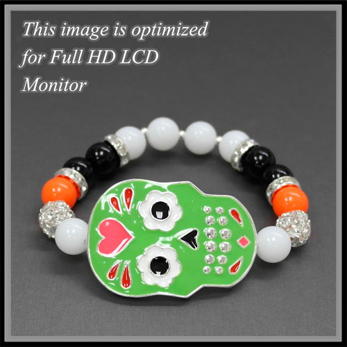 Bracelets &lt; Fashion Stretch < Sugar Skull Bracelet