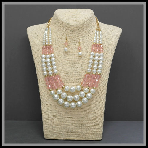 Necklaces &lt; Pearl < Wholesale Necklace Set