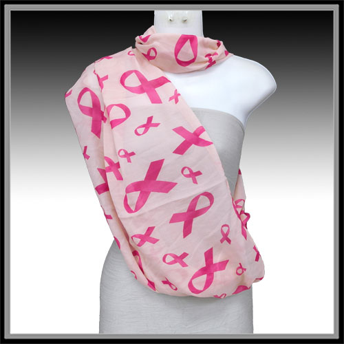 Pink Ribbon &lt; Hat & Scarf < Wholesale Scarf