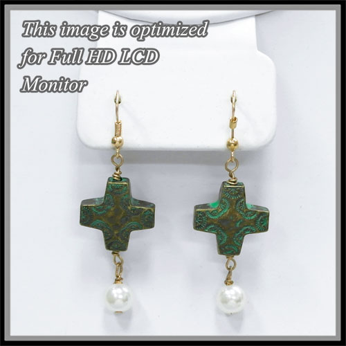 Earring &lt; Cross or Message < Wholesale Earring