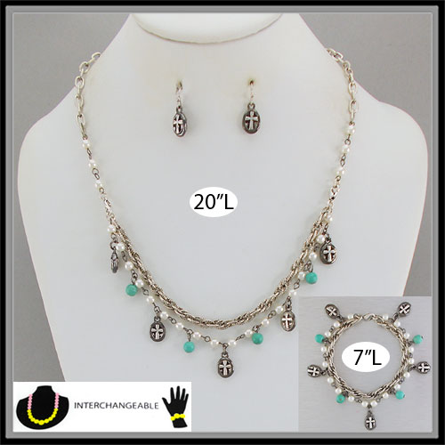 Necklaces &lt; Charm & Icons < Wholesale Necklace Set