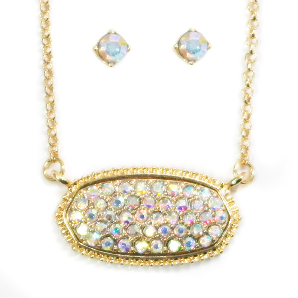 Necklaces &lt; Rhinestone & Glass  < Wholesale Necklace Set