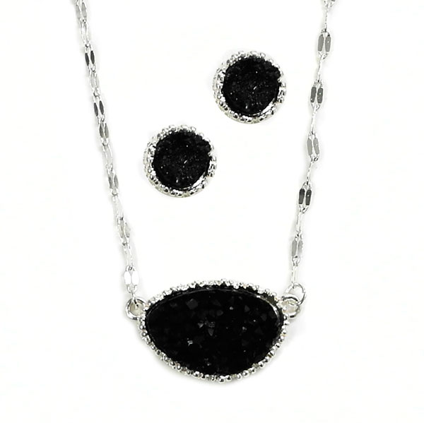 <font color=&quot;black&quot;>Trendy of Stone</font> &lt; Necklace < Wholesale Necklace Set