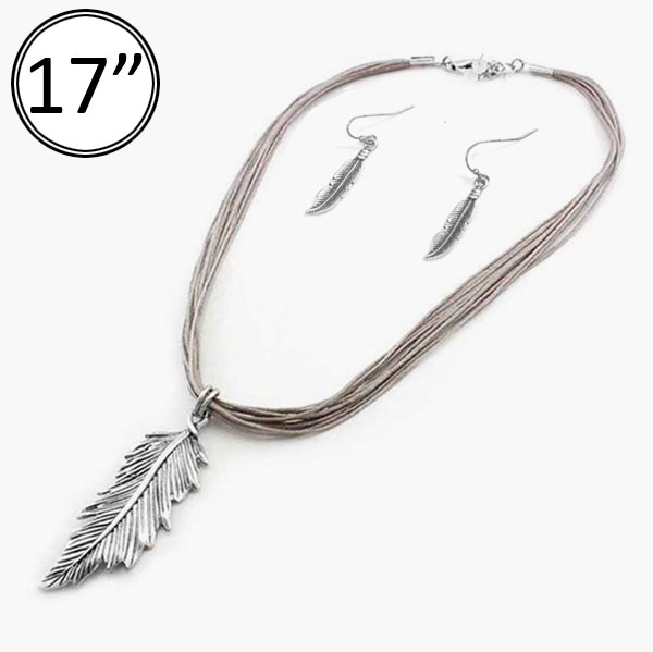 Necklaces &lt; Arrow,Bullet&Feather < Wholesale Necklace Set