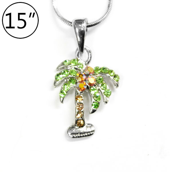 < Palm Tree Charm Necklace