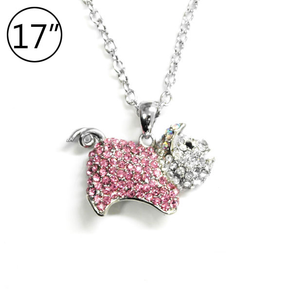 < Pig Charm Necklace