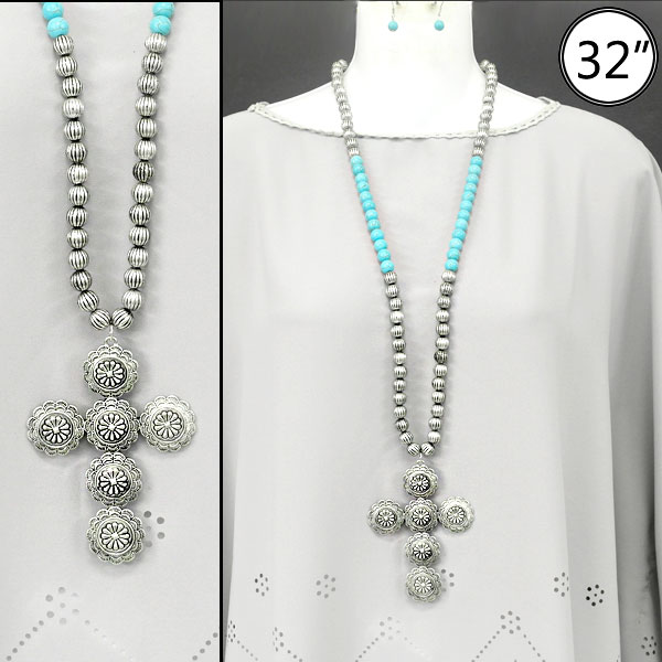 Necklaces &lt; Cross & Message &lt; Necklace Set < Wholesale Necklace Set