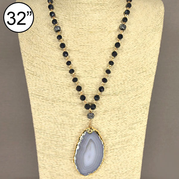 <font color=&quot;black&quot;>Trendy of Stone</font> &lt; Necklace < Wholesale Necklace