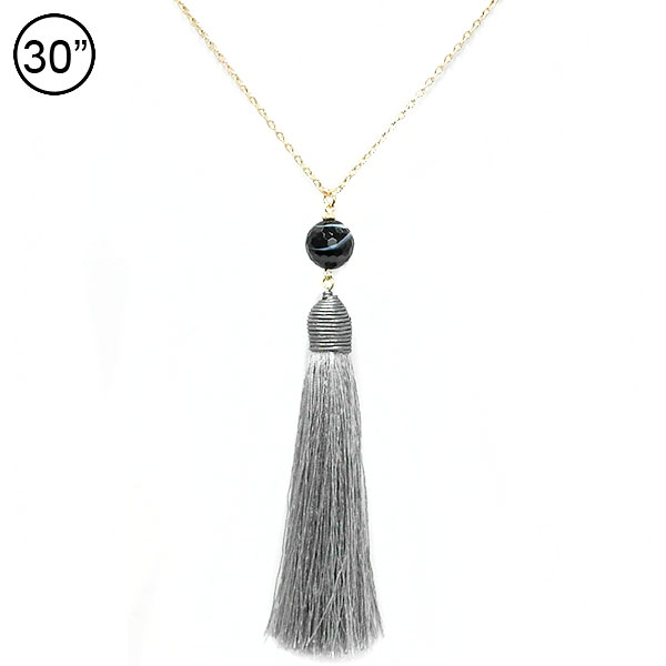 Tassel Accent &lt; Necklace < Wholesale Necklace