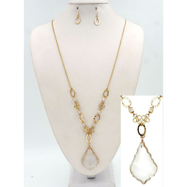 Necklaces &lt; Crystal & CZ < Wholesale Necklace Set